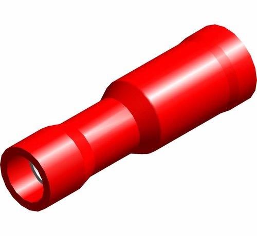 Kogel kabelschoen female - PVC geïsoleerd - Draaddikte 0.5-1.5 mm² - 100 st