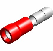 Kogel kabelschoen male - PVC geïsoleerd - Draaddikte 0.5-1.5 mm² - 100 st