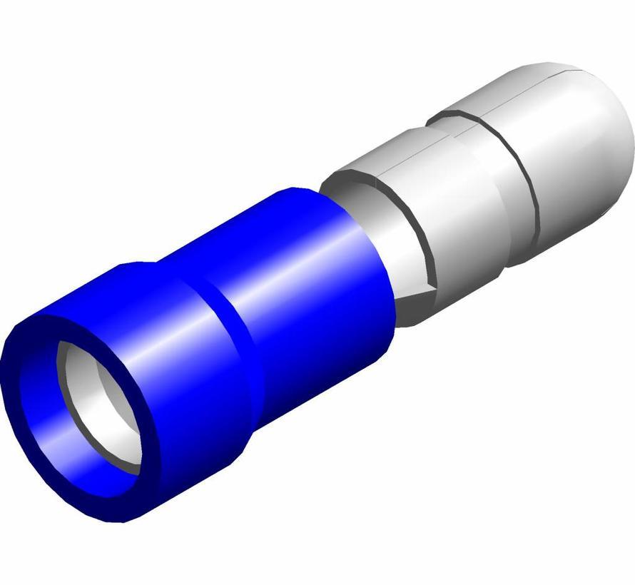 Kogel kabelschoen male - PVC geïsoleerd - Draaddikte 1.5-2.5 mm² - 100 st