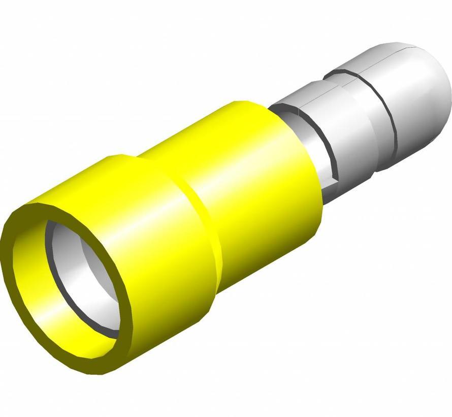 Kogel kabelschoen male - PVC geïsoleerd - Draaddikte 4.0-6.0 mm² - 100 st