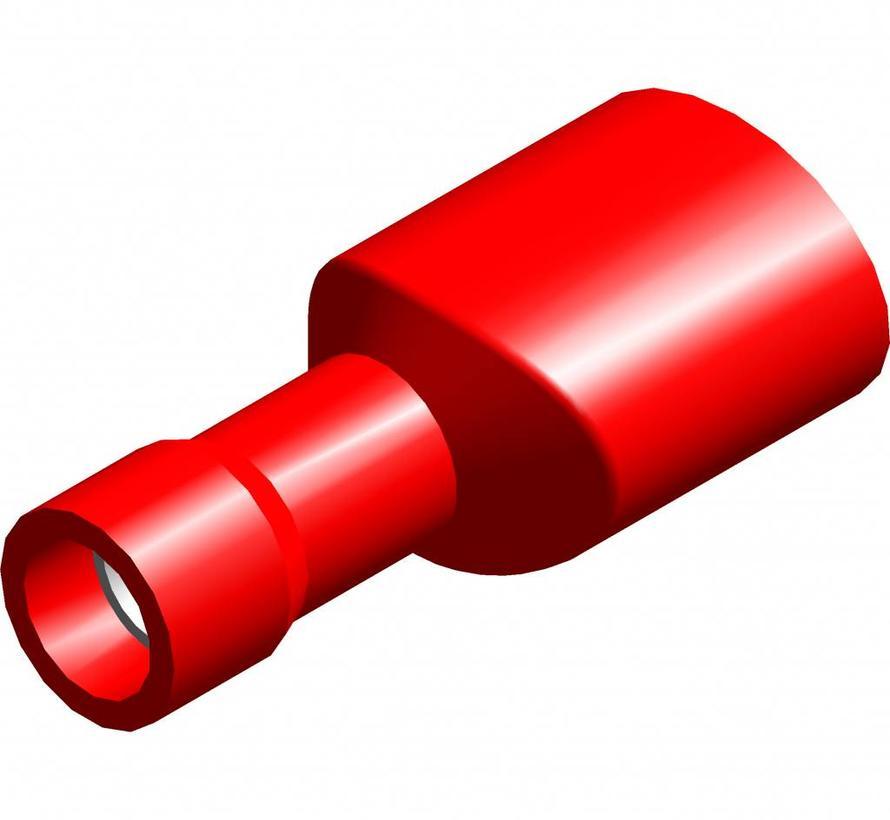 Vlakstekker female met easy entry - volledig geïsoleerd - Draaddikte 0.5-1.5 mm² - 100 st