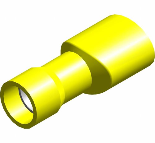 Vlakstekker female met easy entry - volledig geïsoleerd - Draaddikte 4.0-6.0 mm² - 100 st