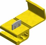 Snelverbinder geel - een-polig - draaddikte 4.0 - 6.0 mm²
