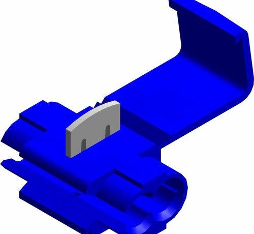 Snelverbinder blauw- een-polig - draaddikte 1.5 - 2.5 mm²