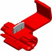 Snelverbinder rood - een-polig - draaddikte 0.5 - 1.5 mm²