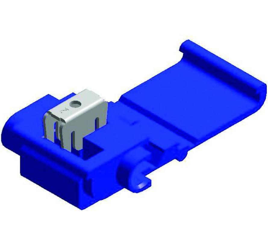 Snelverbinder blauw twee-polig