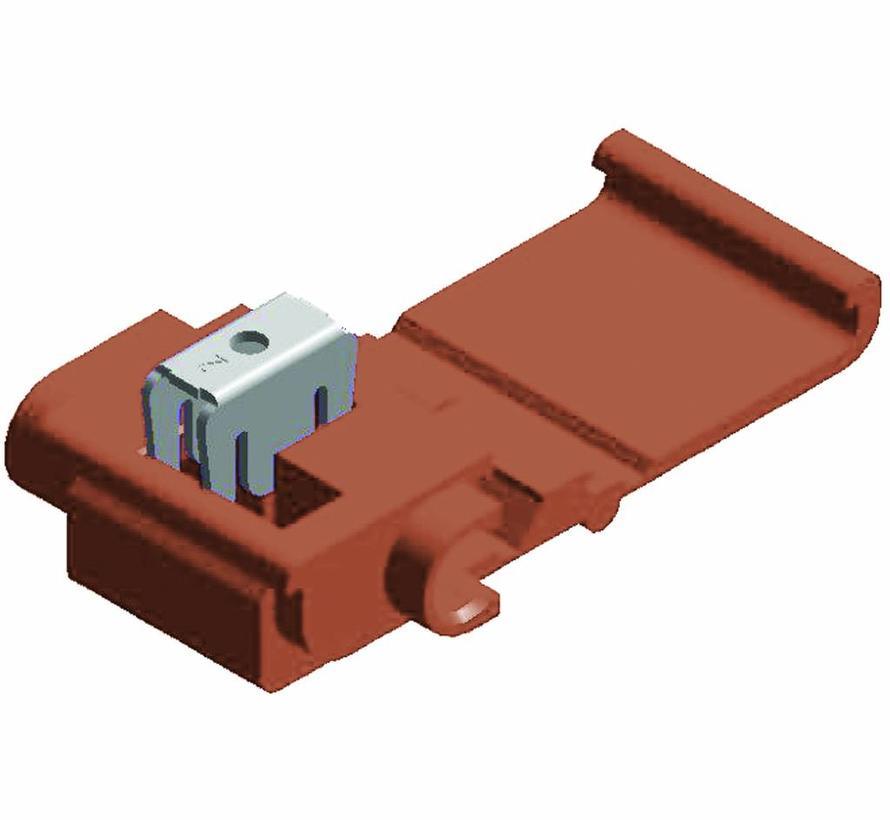 Snelverbinder bruin- twee-polig - draaddikte 0.75 - 1.5 mm²