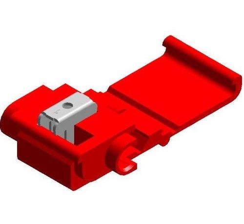Snelverbinder rood- twee-polig - draaddikte 0.5 - 1.0 mm²