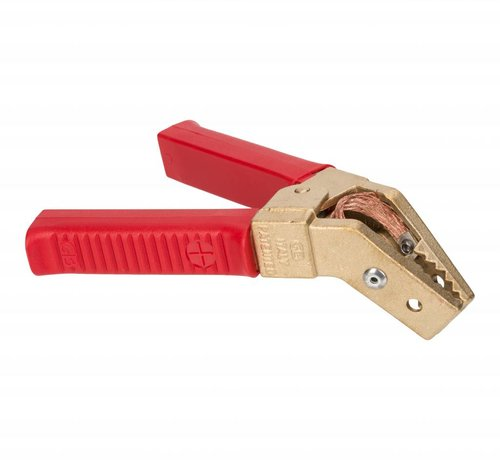 Half-geïsoleerde accuklem 800A - hoekklem met gevlochten koper voering - Rood
