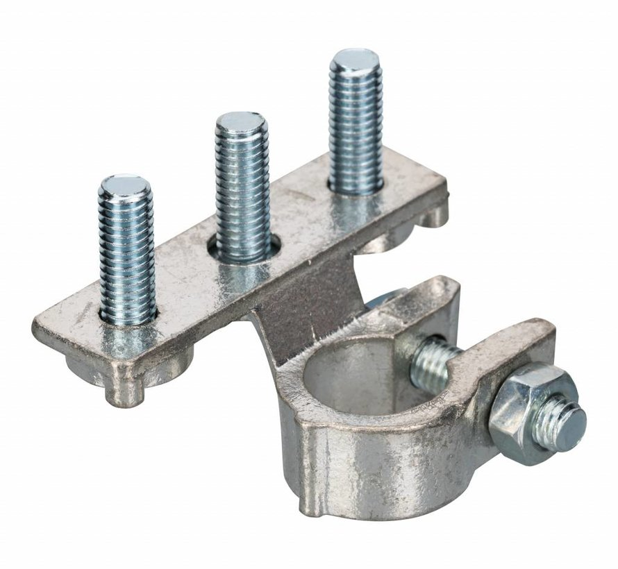 Accupoolklem met 3 bevestigingsbouten Ø6 mm - Negative clamp