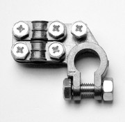 Accupoolklem Double plated Alpha type - Negative clamp