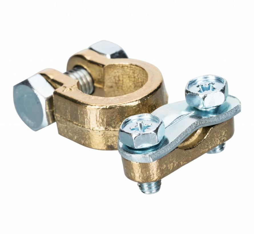 Accupoolklem reinforced straight Alpha type 10 - 70 mm² - Positive clamp