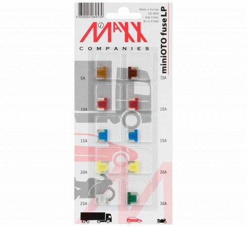 10-delig assortiment miniOTO Mini steekzekeringen met laag profiel