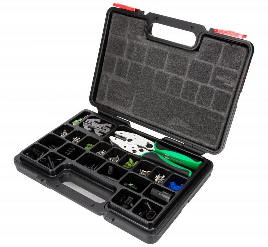 Professioneel 220-delig assortiment Delphi Weatherpack connectors met gereedschap