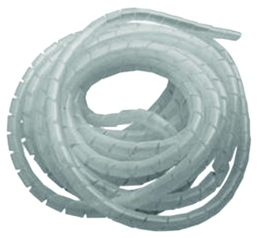 Spiral wrap kabelgeleider wit / transparant 25 m