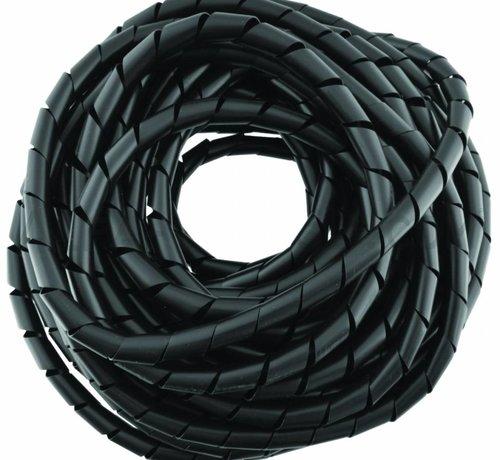 Spiral wrap kabelgeleider zwart - 25 m