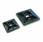 Plakzadels voor kabelbinders zwart