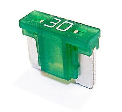 Mini steekzekering laag profiel 30  Ampère / 58 V - 50 stuks