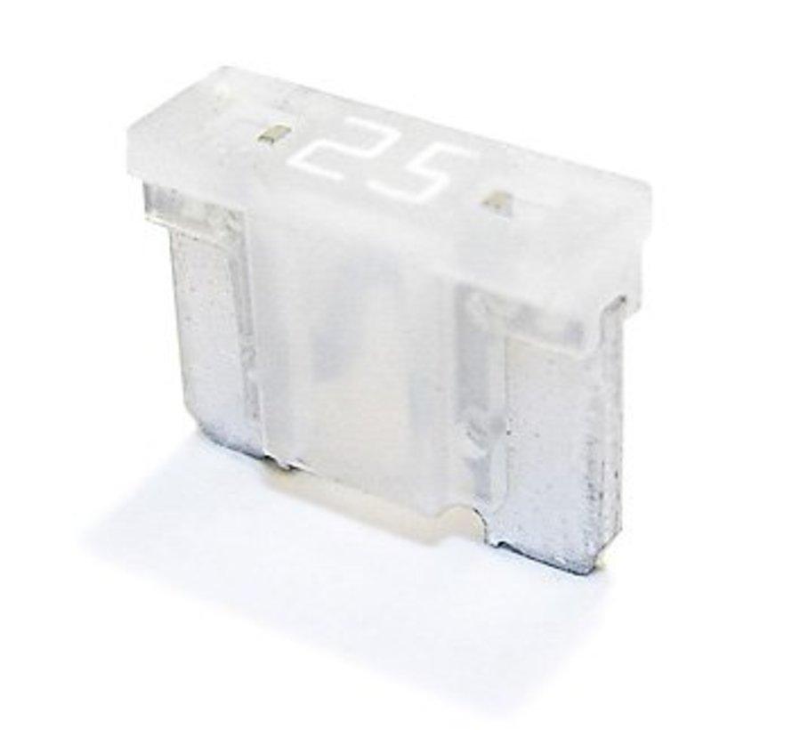 Mini steekzekering laag profiel 25  Ampère / 58 V - 50 stuks