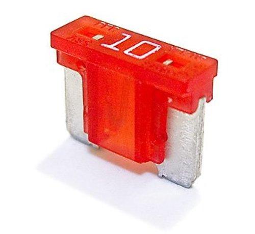 Mini steekzekering laag profiel 10  Ampère / 58 V - 50 stuks
