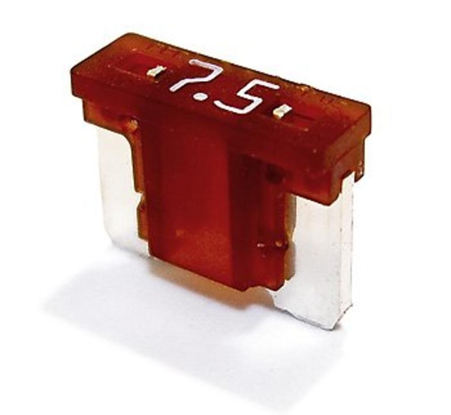 Mini steekzekering laag profiel 7.5  Ampère / 58 V - 50 stuks