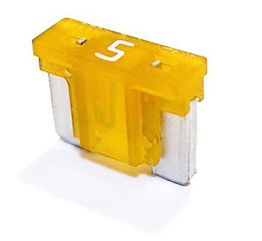 Mini steekzekering laag profiel 5  Ampère / 58 V - 50 stuks