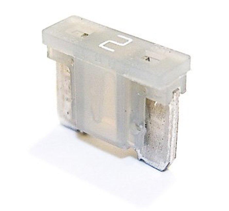 Mini steekzekering laag profiel 2  Ampère / 58 V - 50 stuks