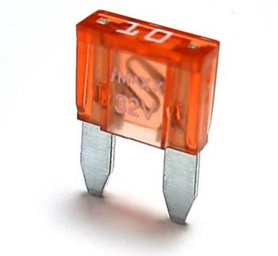 Mini steekzekering 10 Ampère / 32 V - 50 stuks