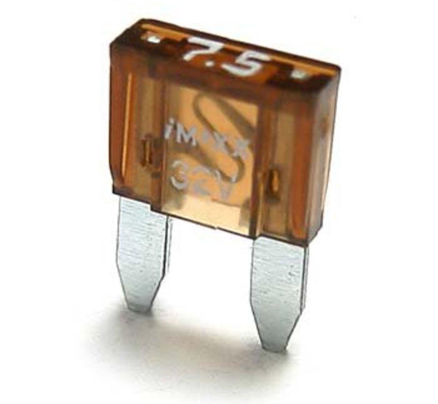 Mini steekzekering 7.5 Ampère / 32 V - 50 stuks