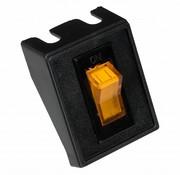 Wipschakelaar amber met lampje