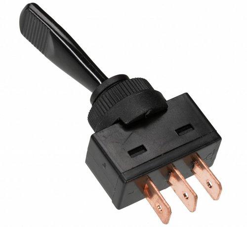 Tuimelschakelaar aan/uit/aan - 3 kabelschoen aansluitingen met soldeeroog