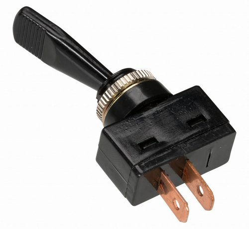 Tuimelschakelaar aan/uit - 2 kabelschoen aansluitingen met soldeeroog