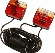 verlichtingsset voor aanhanger magnetisch met aansluitsnoer en stekker