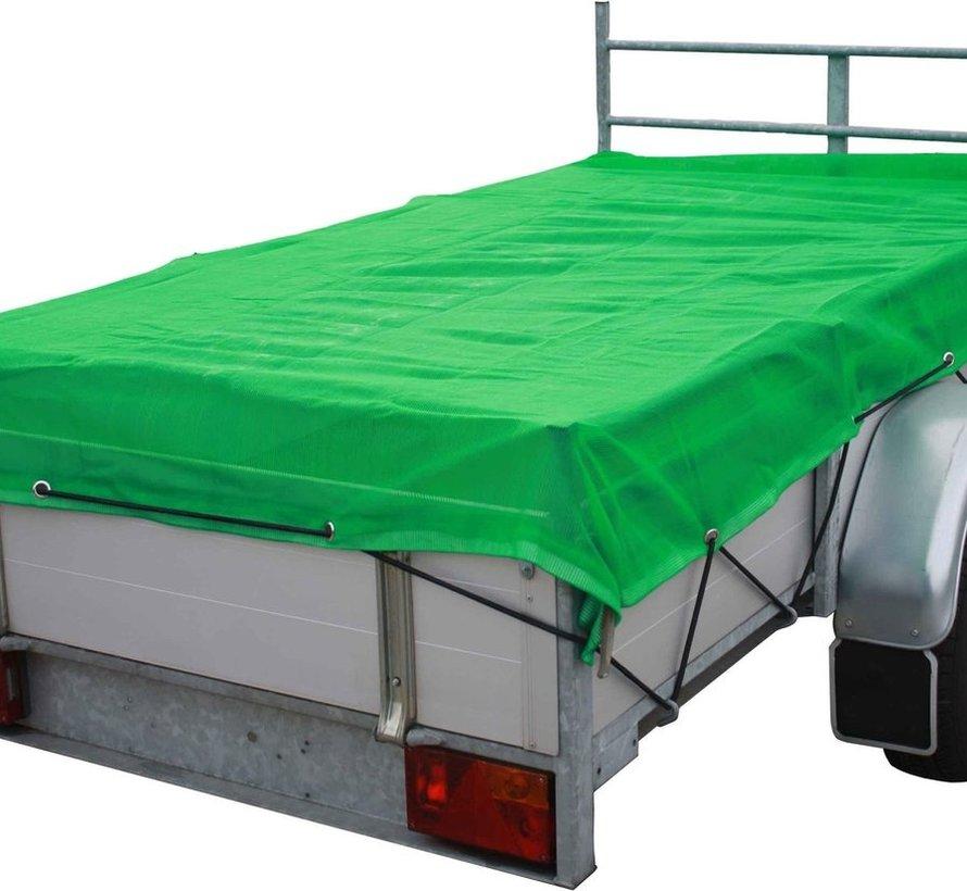 Fijnmazig aanhangernet - 4.50 x 2.50 meter - Groen