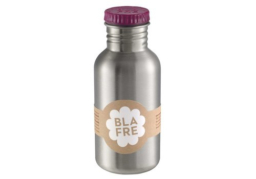 Blafre Steel bottle 500ml plum red