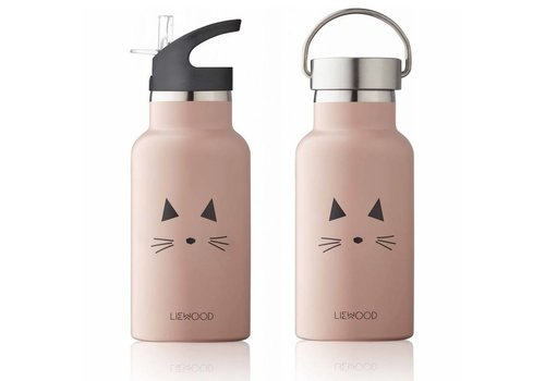 Liewood Steel bottle Anker Cat rose