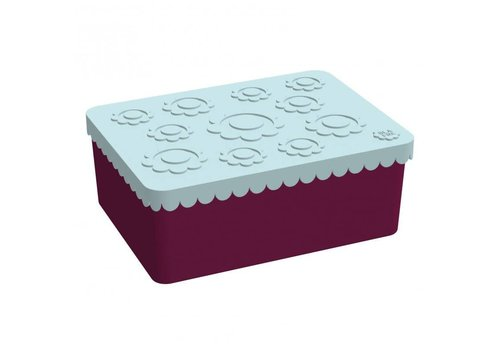 Blafre Lunch box light blue/plum red