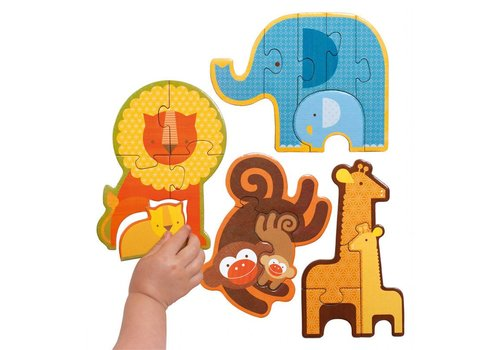 Petit Collage Beginner puzzle - Safari baby animals