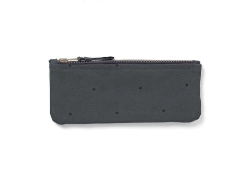 Liewood Pencil case Pelle Classic Dot Dark Grey