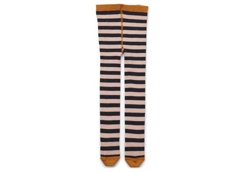 Liewood Silje lurex stockings Stripe rose/navy