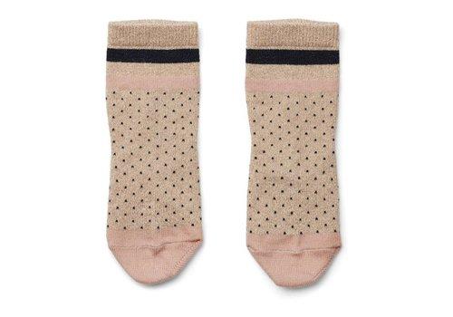Liewood Silas lurex socks Little dot gold