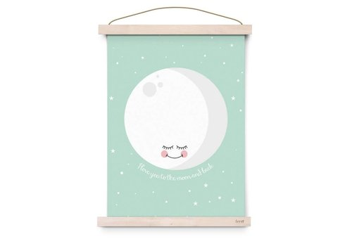 Eef Lillemor Poster I Love You To The Moon And Back mint