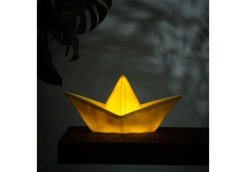 Goodnight Light Nachtlamp Paper Boat Yellow dip