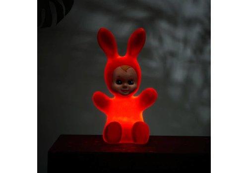 Goodnight Light Nachtlamp Bunny Baby Fluo red