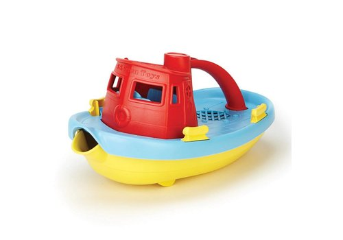 Green Toys Tugboat red