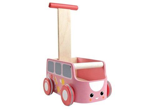PlanToys Loopwagen Roze