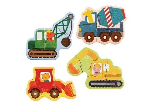 Petit Collage Eerste puzzel - Werfvoertuigen