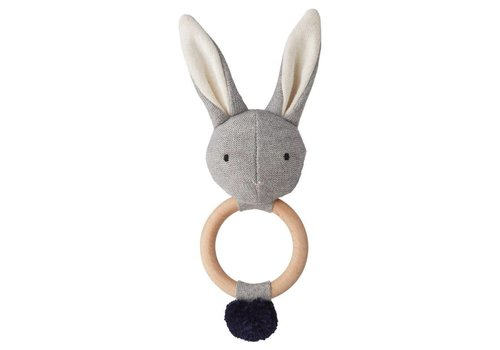 Liewood Aria rattle Rabbit Grey melange