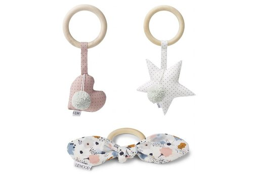 Liewood Rattle set Alvin 3 pcs Girlie