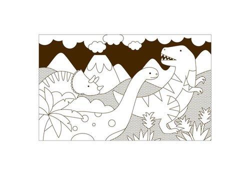 Petit Collage Kleurboek - Dino's